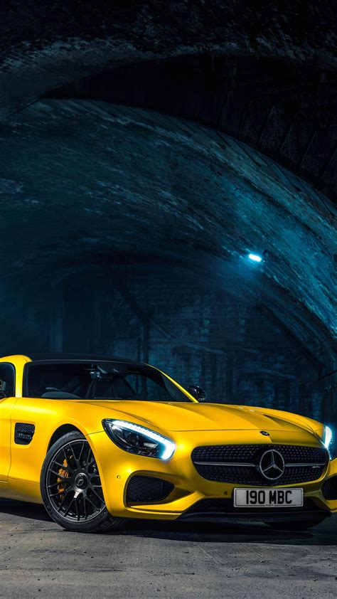 wallpaper for iphone 6 cars 2015 mercedes benz amg gts yellow car iphone wallpaper