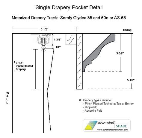 motorized drapery track systems automated shade as 68rf motorized drapery track rod