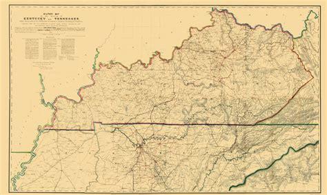 kentucky map civil war civil war maps kentucky and tennessee ky tn