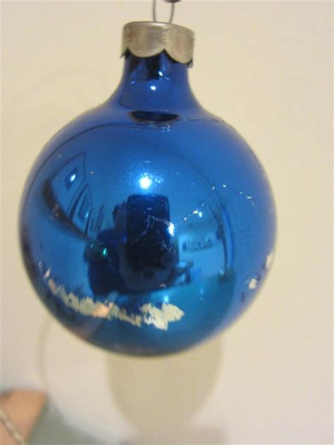 ornament vintage lot 7 rauch glass balls 1950 s 2 quot size