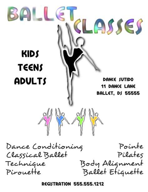 ballet dance classes flyer template larger view