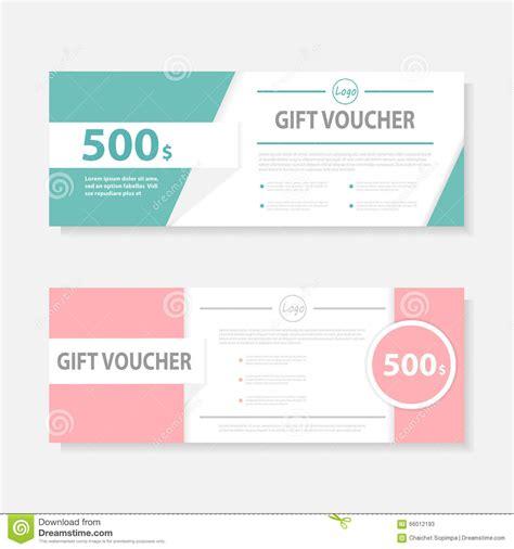 Cute Gift Voucher Certificate Coupon Design Template Voucher Template