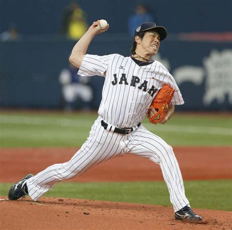 japanese sports maeda handcuffs mlb stars as samurai japan wins game 1