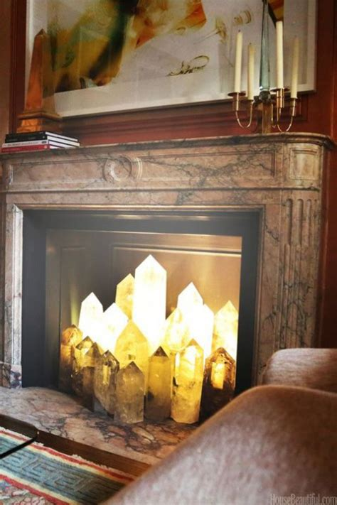 fireplace candle displays to make your home cozier