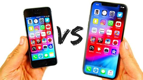 iphone se  iphone xs max speed test youtube