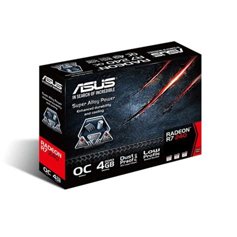 Vga Card Ati Radeon 4gb vga asus ati radeon r7240 oc 4gd3 l 4gb ddr3 hdmi informatica megasur