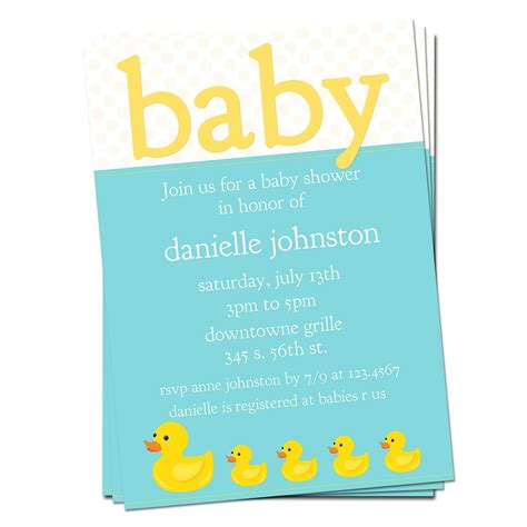 Rubber Ducky Baby Shower Invitations Dolanpedia Invitations Template Rubber Ducky Baby Shower Invitations Template Free