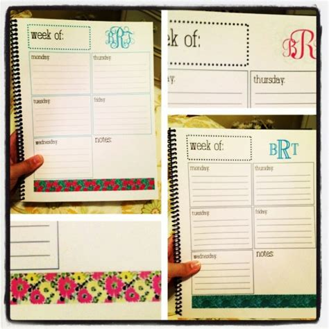 templates agenda indesign diy weekly planner template made on indesign and printed