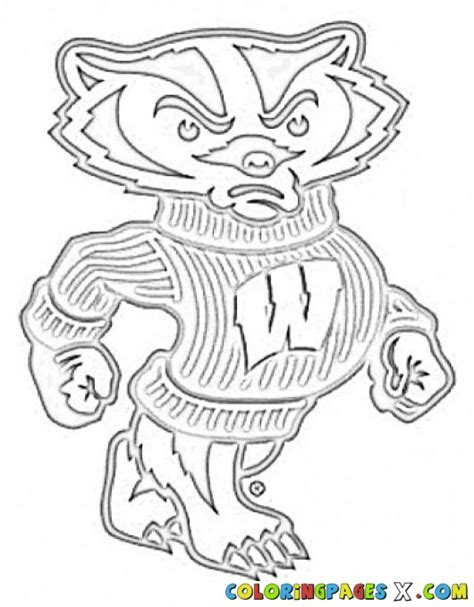 free coloring pages of wisconsin badger