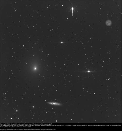 comet 41p tuttle giacobini kresak meets messier 97 and