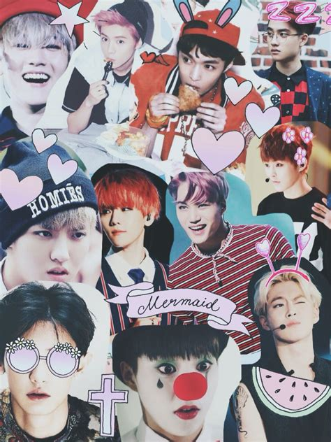 exo diy wallpaper exo collage kpop collages