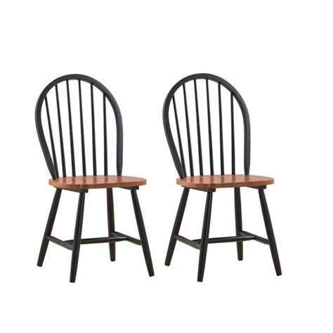 Boraam Farmhouse Dining Chair In Black And Cherry Set Of