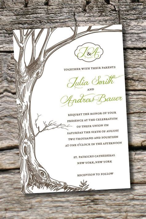rustic tree card template 1000 ideas about response cards on wedding