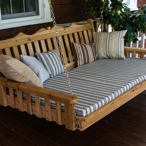bed with swing a l furniture royal english 4 foot cedar outdoor swing bed
