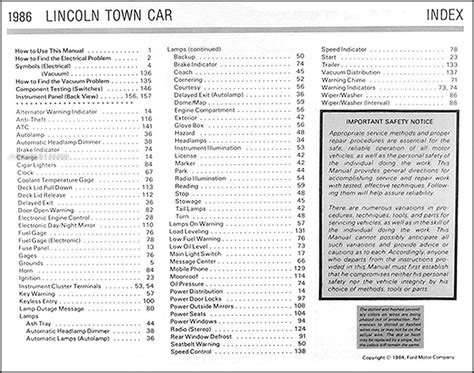 free car manuals to download 1985 lincoln town car electronic valve timing 1986 lincoln town car electrical and vacuum troubleshooting manual original 86 ebay