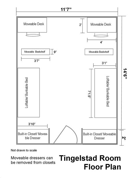 plan your room tingelstad hall floor plans residential life plu