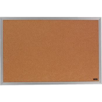 office depot brand cork bulletin board aluminum frame 24