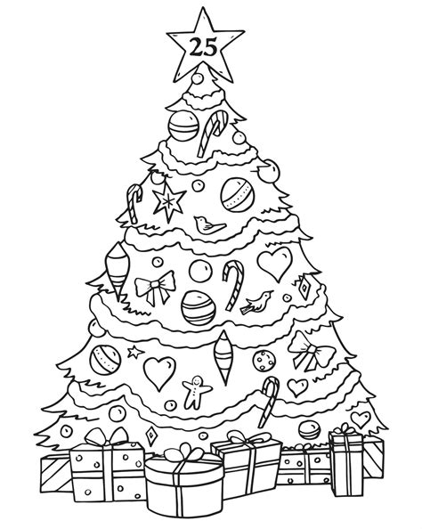 Merry Christmas Tree Coloring Pages Temasistemi Net Merry Tree Coloring Page