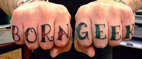 jesus knuckle tattoo born geek knuckles tattoo tattooimages biz