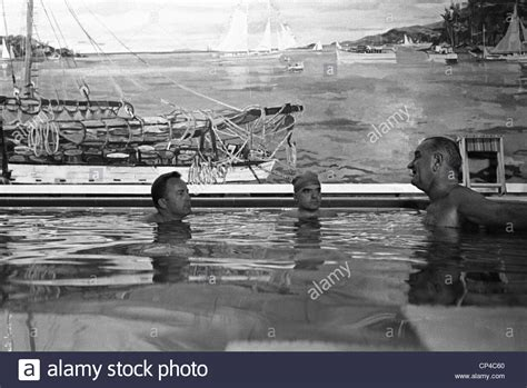 white house pool lbj in the white house swimming pool lloyd hand jack valenti stock photo royalty