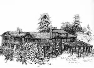 burned house drawing