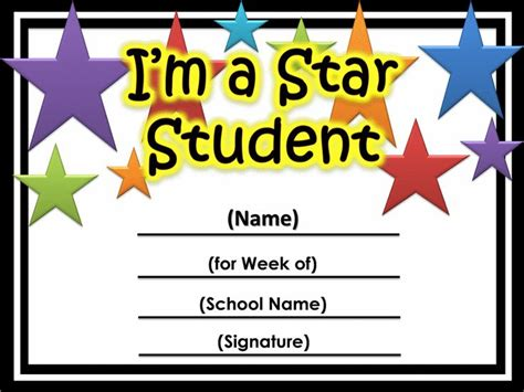 classroom certificates templates of the week certificate printable printable
