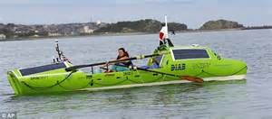 japanese rowboat sonya baumstein leaves in rowboat trip across pacific from