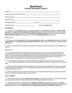 band booking contract template best photos of artist performance contract artist