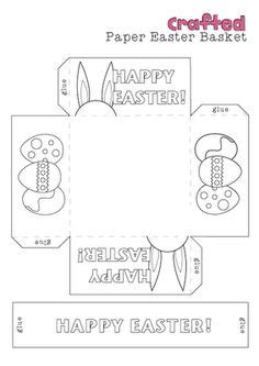 easter bunny basket template printable easter on easter cookies easter bunny and
