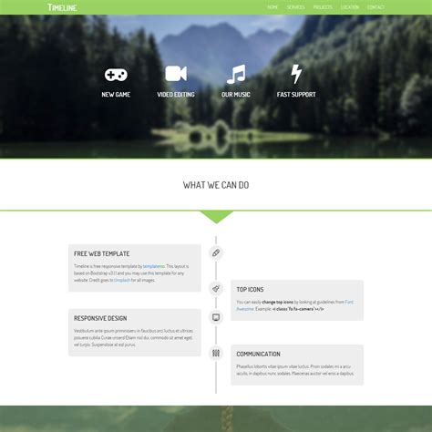 bootstrap layout simple template 427 timeline