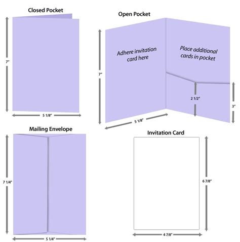 Wedding Card Size Template by Guide To Properly Sized Pocket Insert Cards
