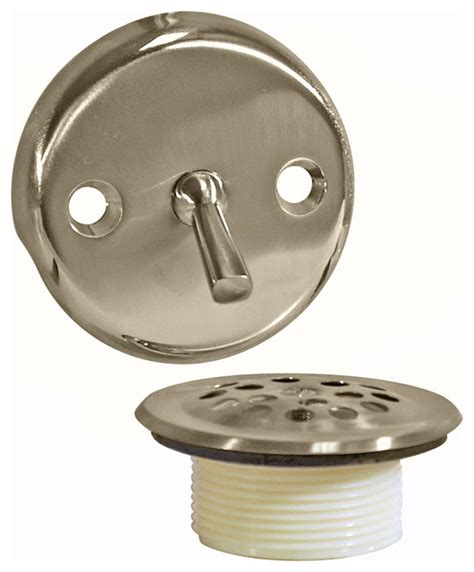 Bathtub Parts by Trip Lever Tub Drain Trim Kit With Overflow Brushed