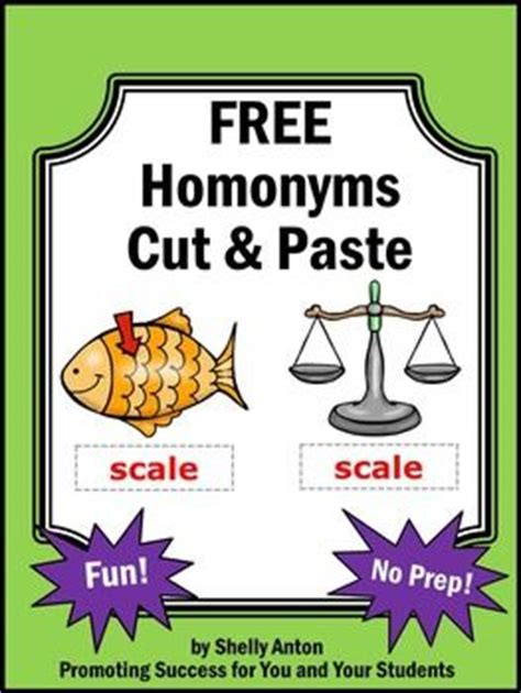printable homograph puzzle homonyms homonyms worksheet students will cut and paste