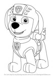 learn draw zuma paw patrol paw patrol step step drawing tutorials