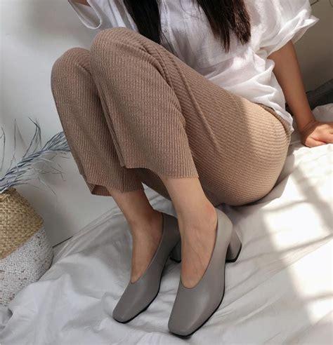 Najma Grey chiko najma square toe block heel glove shoe pumps new