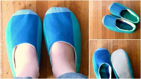 how to make fabric slippers simple sewn fabric slippers diy tutorial how to