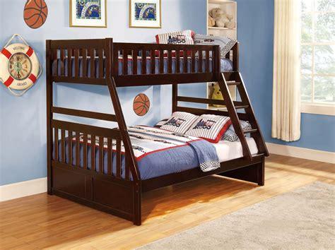 cherry bunk beds dark cherry bunk bed he013 kids bedroom