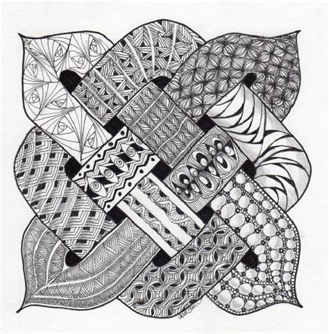 celtic knot with zentangle