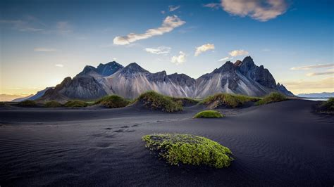 photo landscapes  iceland black sand beach rocky