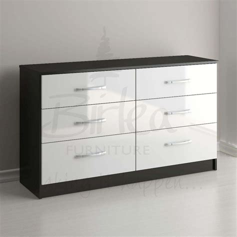 white gloss bedroom dresser gloss bedroom furniture black and white 42 home delightful