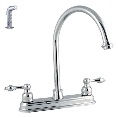 ldr industries 2 handle standard kitchen faucet in chrome ldr industries victorian lever 2 handle standard kitchen