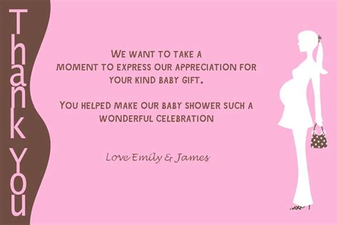 Baby Shower Gift Thank You Card Messages - personalised baby shower thank you card design 3