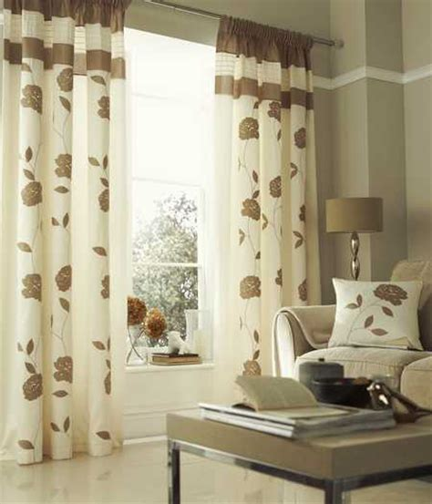 cream and beige curtains beige cream floral trail lined faux silk curtains 66x90