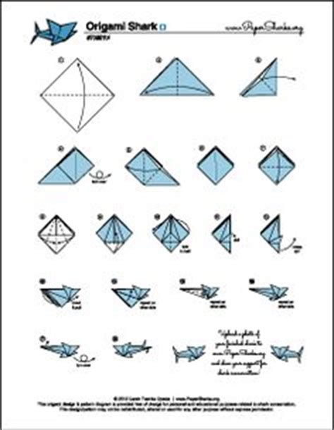 How To Make A Origami Shark Step By Step - paper sharks pattern a origami shark folding diagram and