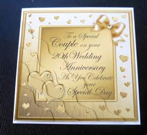 special 20th wedding anniversary card plum gold silver or chagne ebay