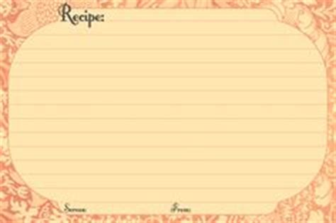 Electronic Recipe Card Template by Recipe Scrapbooking Printables And Blank Recipe Cards On
