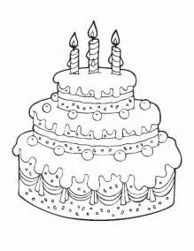 happy birthday cake coloring pages coloring me