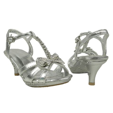 silver high heels with bows t open toe evening high heel dress sandals w
