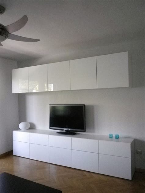 Ikea Dining Room Wall Cabinets Ikea Besta Cabinets With High Gloss Doors For Dining Room