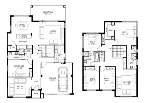 Modern Two Story House Plans Upstairs Floor Plan Ideas Two Story House Plans Perth